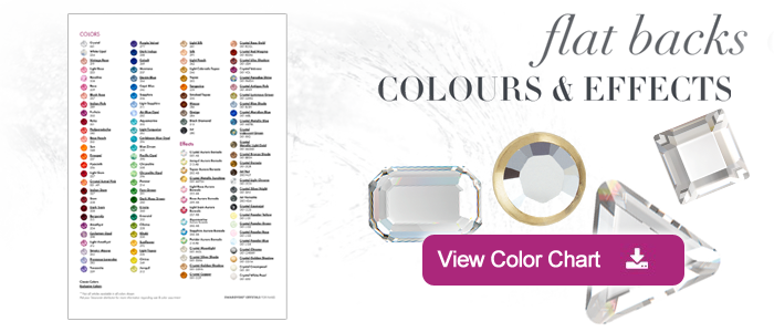 Swavorski Crystals Color Chart for Nail Application